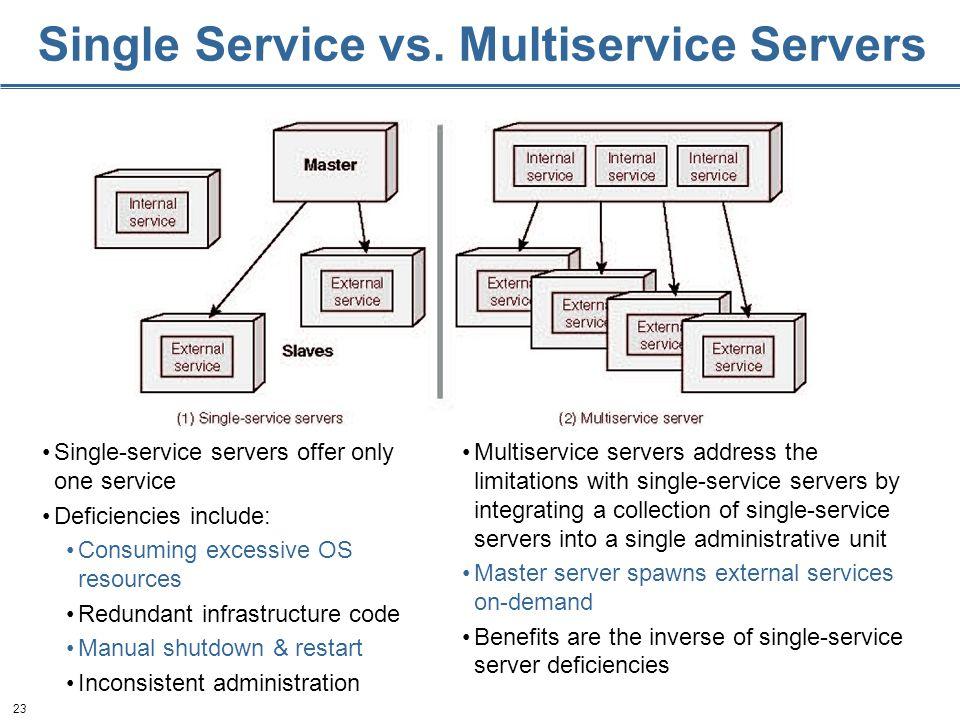 23 Single Service vs.