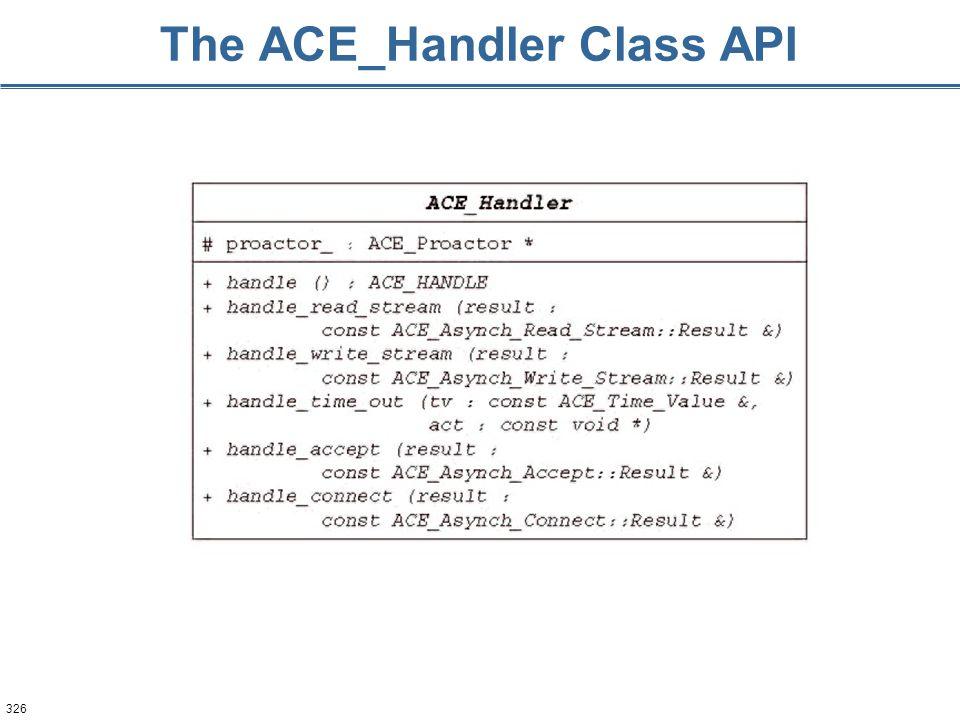 326 The ACE_Handler Class API