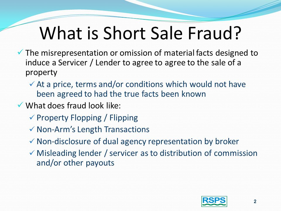 What is Short Sale Fraud.