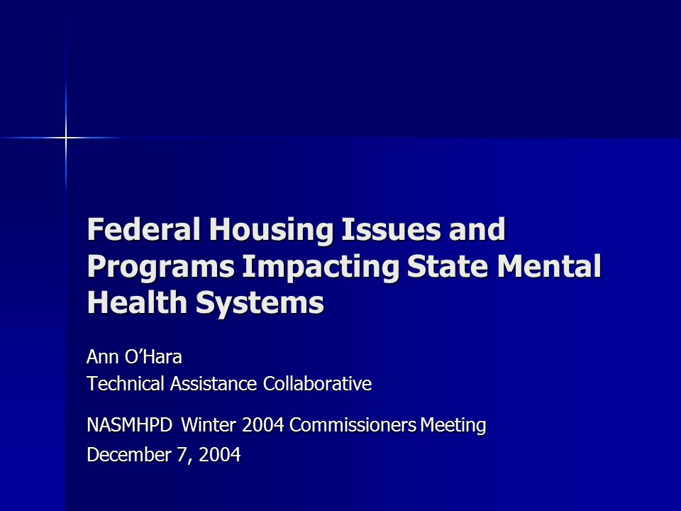 2 Technical Assistance Collaborative (TAC) TAC works to expand decent, safe, and affordable housing and support services opportunities for people with mental illness and other disabilities TAC works to expand decent, safe, and affordable housing and support services opportunities for people with mental illness and other disabilities TAC focuses on the nation's affordable housing delivery system and how it should respond to the housing needs of people with disabilities TAC focuses on the nation's affordable housing delivery system and how it should respond to the housing needs of people with disabilities