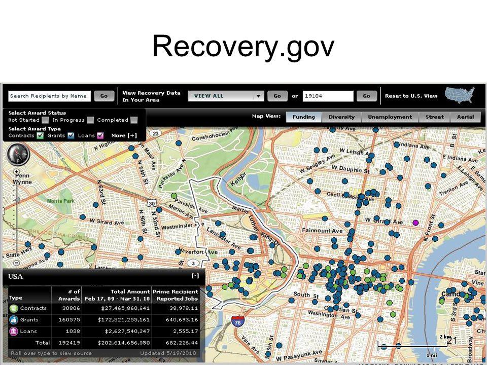 22 WWW.data.gov (and next generation)