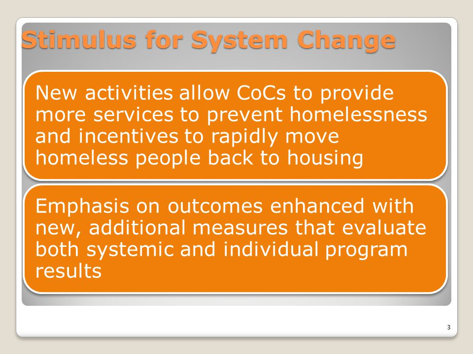 Selection Criteria for Funding Performance (as described above) Community Plans focus on: reducing homelessness educational needs of children and needs of all homeless sub-populations CoC plan aligns with Ten Year Plan (TYP)  Measureable targets, timelines, funding, leadership and staff 14