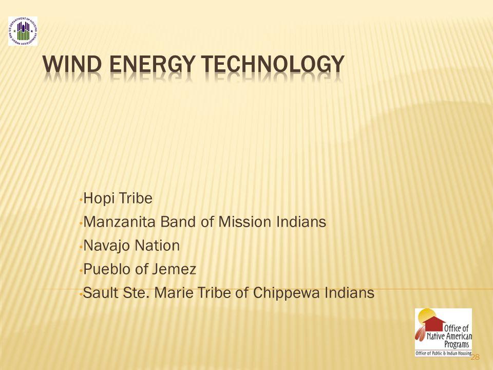 Hopi Tribe Manzanita Band of Mission Indians Navajo Nation Pueblo of Jemez Sault Ste.
