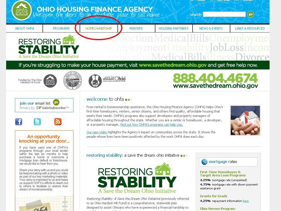 Ohio Housing Finance Agency Questions?