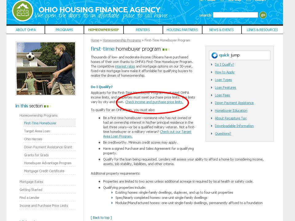 Ohio Housing Finance Agency Grants for Grads Second Mortgage Program