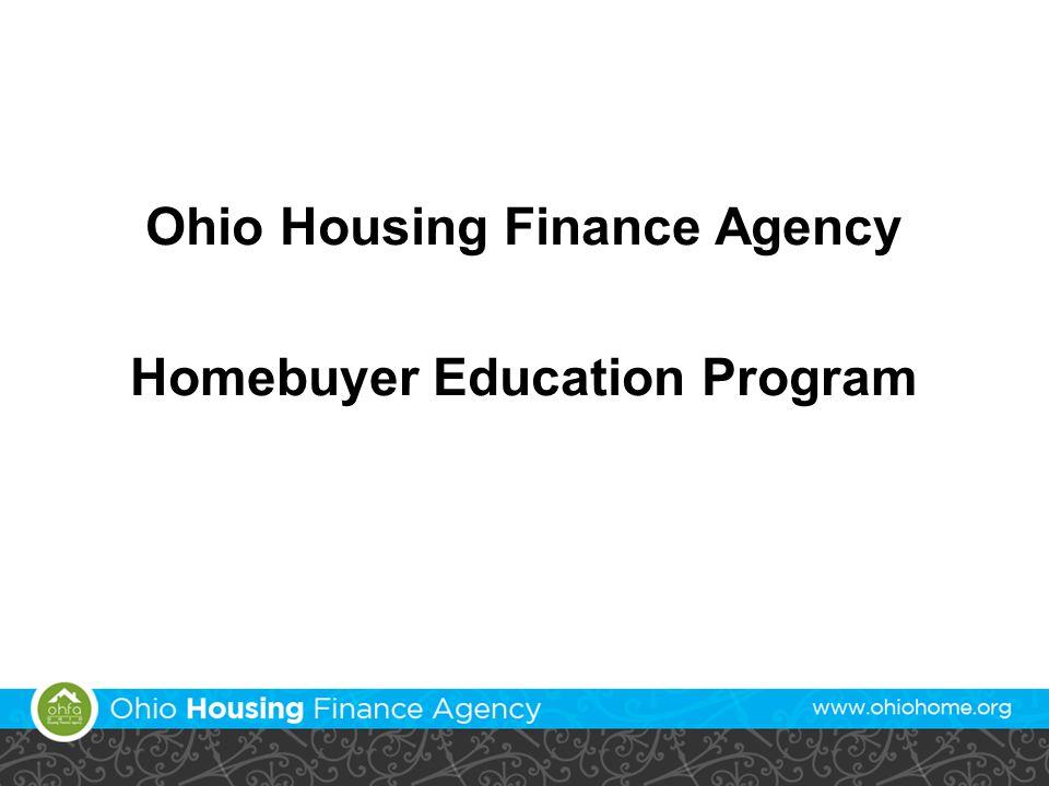 Ohio Housing Finance Agency Homebuyer Education Program