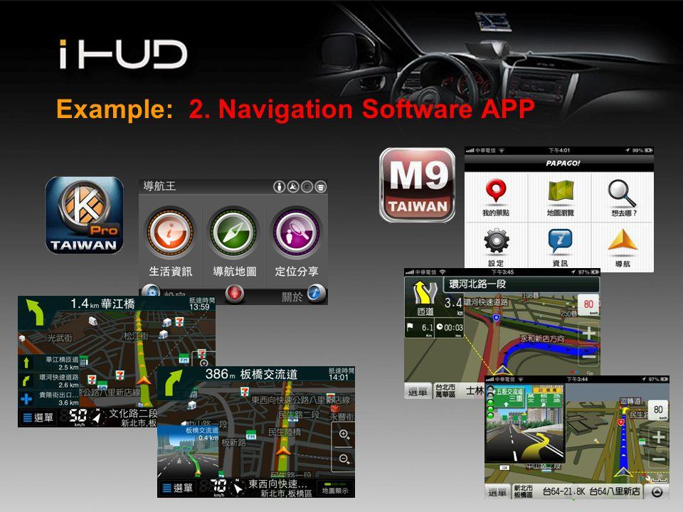 www.company.com Example: 2. Navigation Software APP