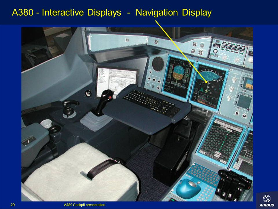 A380 Cockpit presentation 29 A380 - Interactive Displays - Navigation Display
