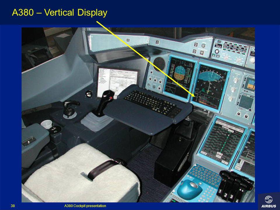 A380 Cockpit presentation 38 A380 – Vertical Display