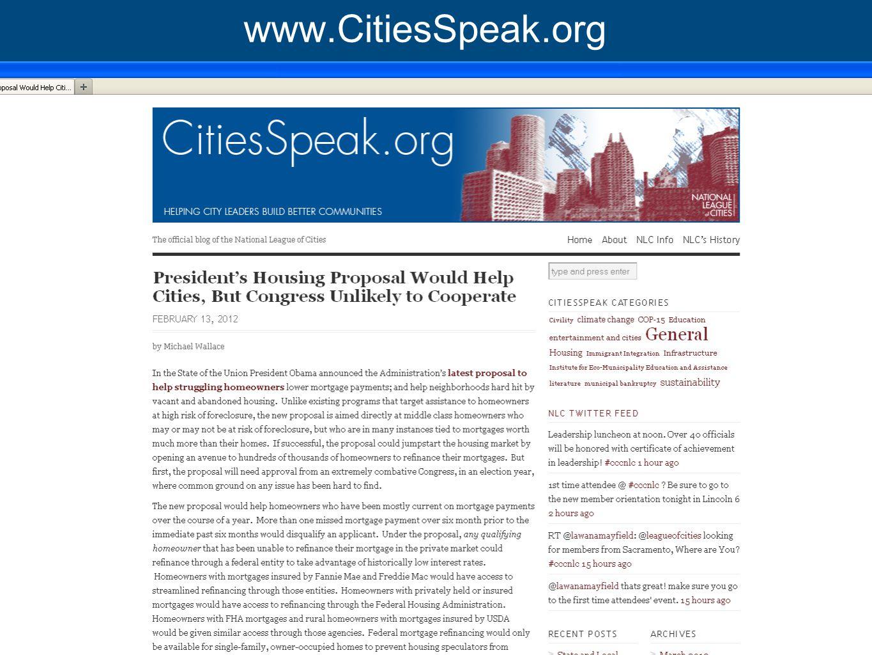 www.nlc.org www.CitiesSpeak.org