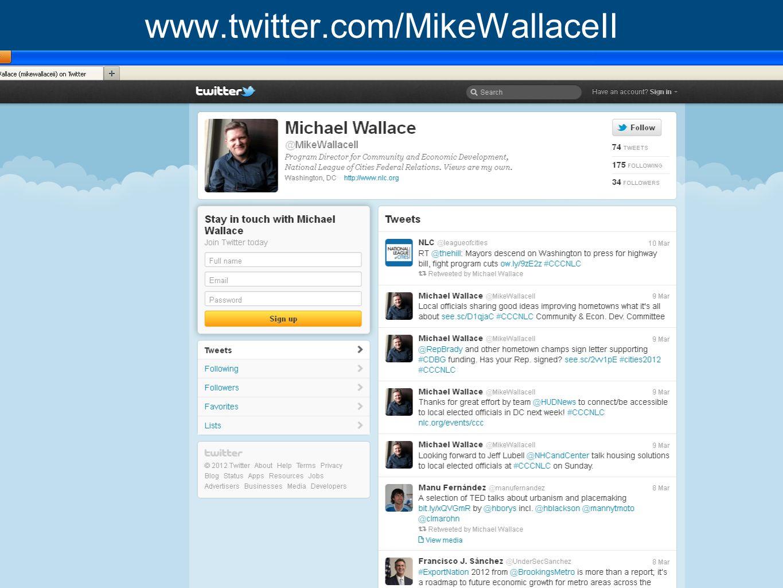 www.nlc.org www.twitter.com/MikeWallaceII
