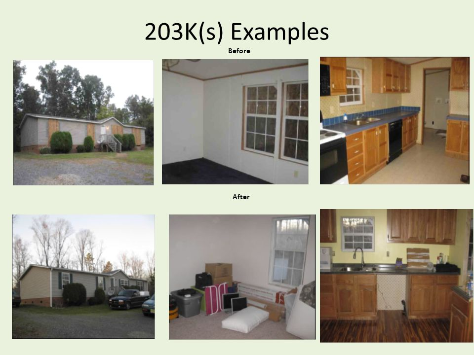 203K(s) Examples Before After