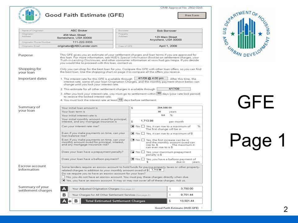 GFE Page 1 2