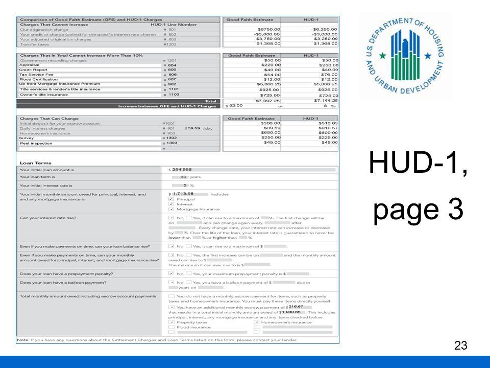 HUD-1, page 3 23