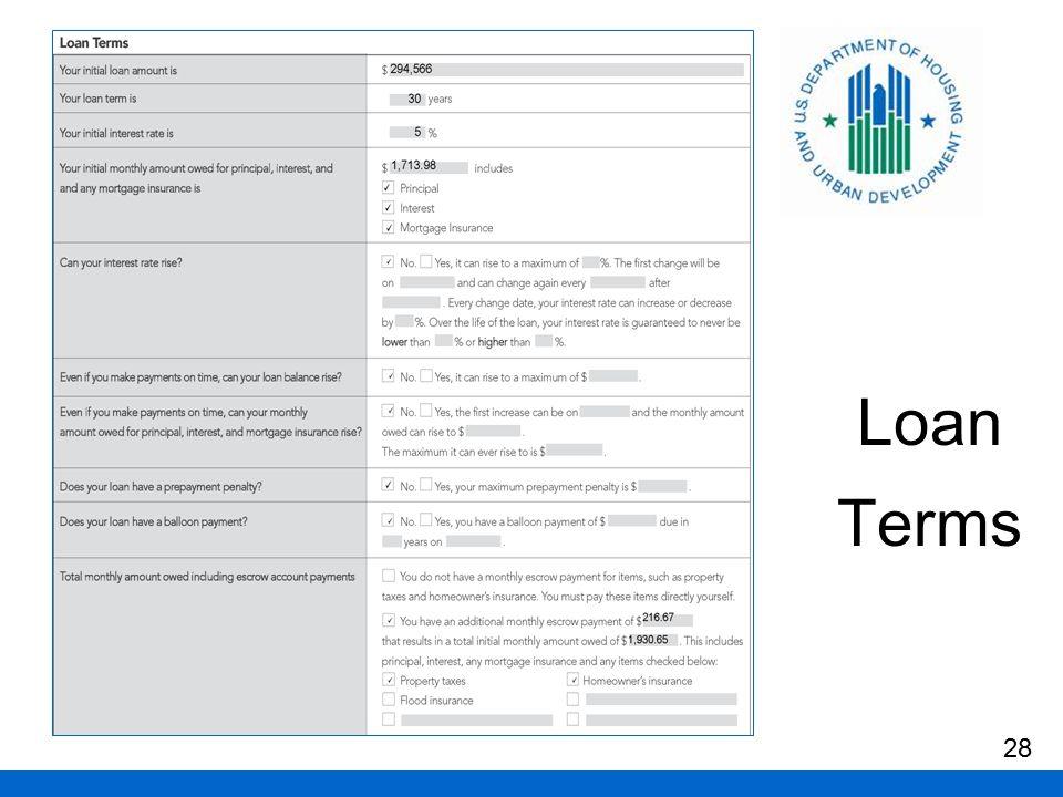 Loan Terms 28