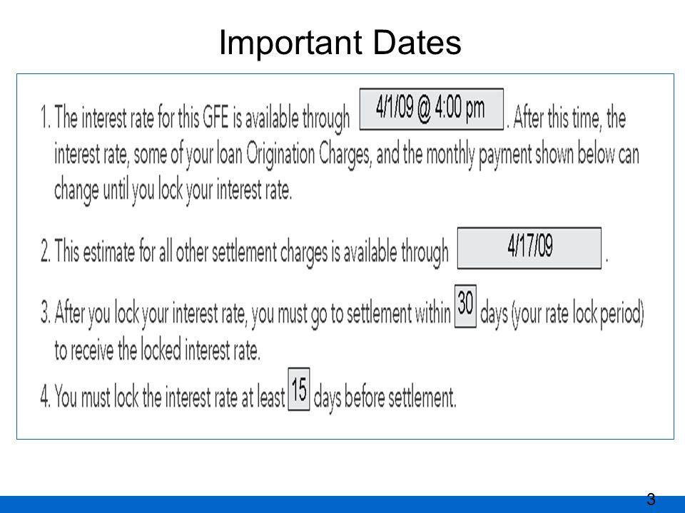 Important Dates 3
