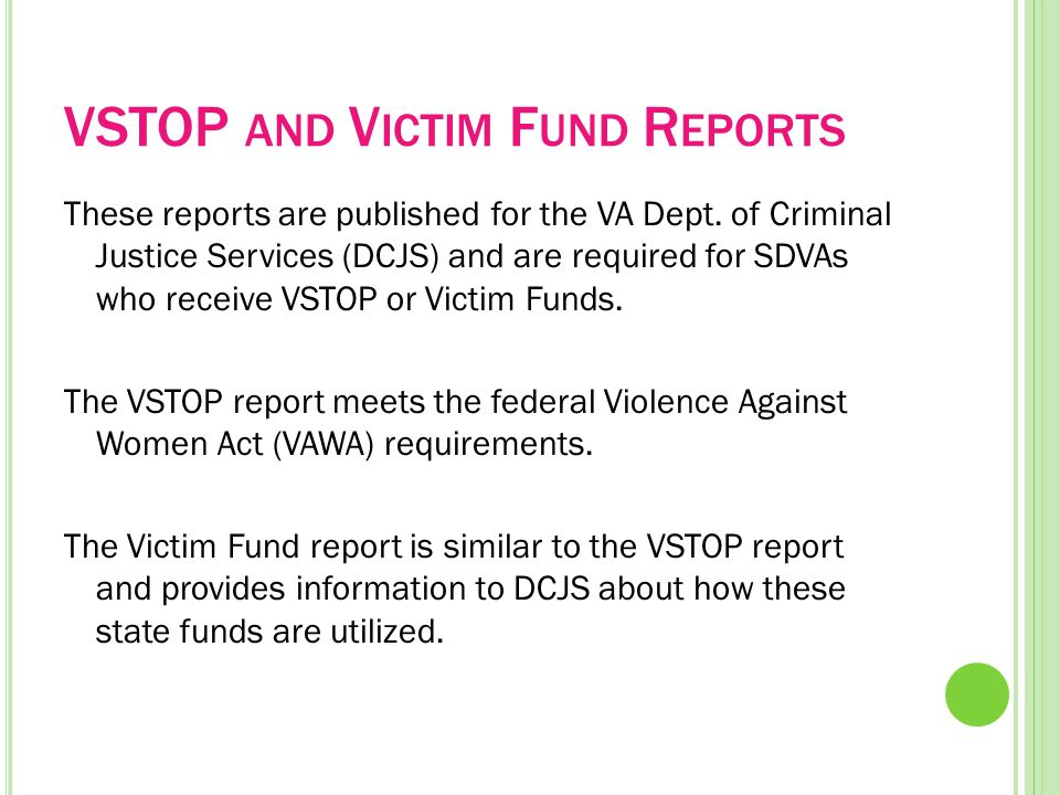 A DVOCACY AND H OTLINE D ATA R EPORTS These reports provide a summary of ALL of the data included in the Advocacy and Hotline forms and are inclusive of BOTH sexual violence and domestic violence data and services.