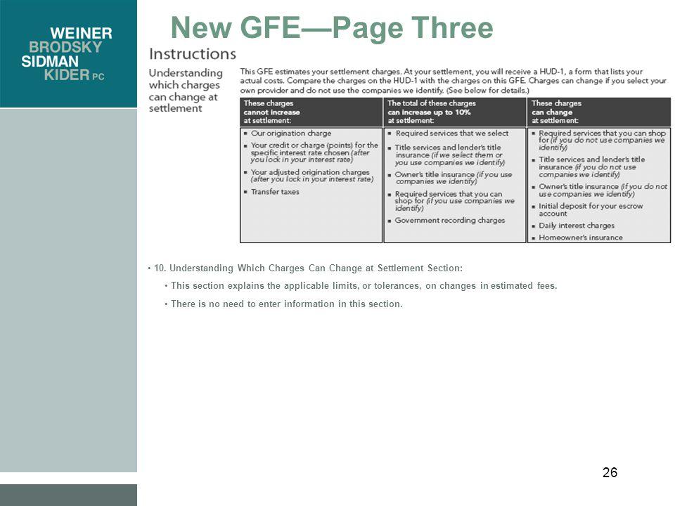 27 New GFE—Page Three 11.