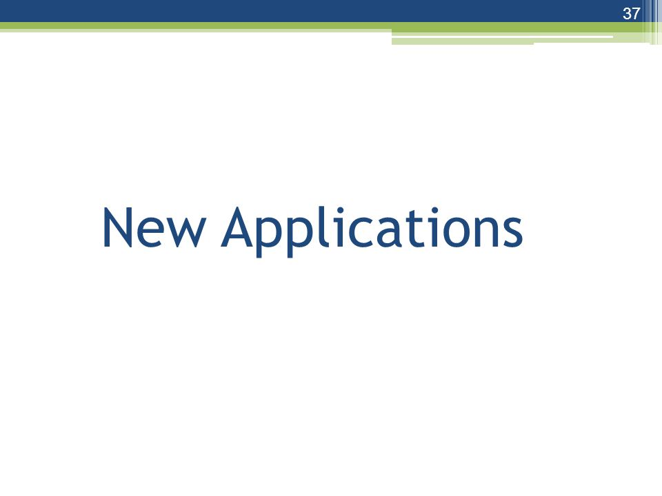 New Applications 37