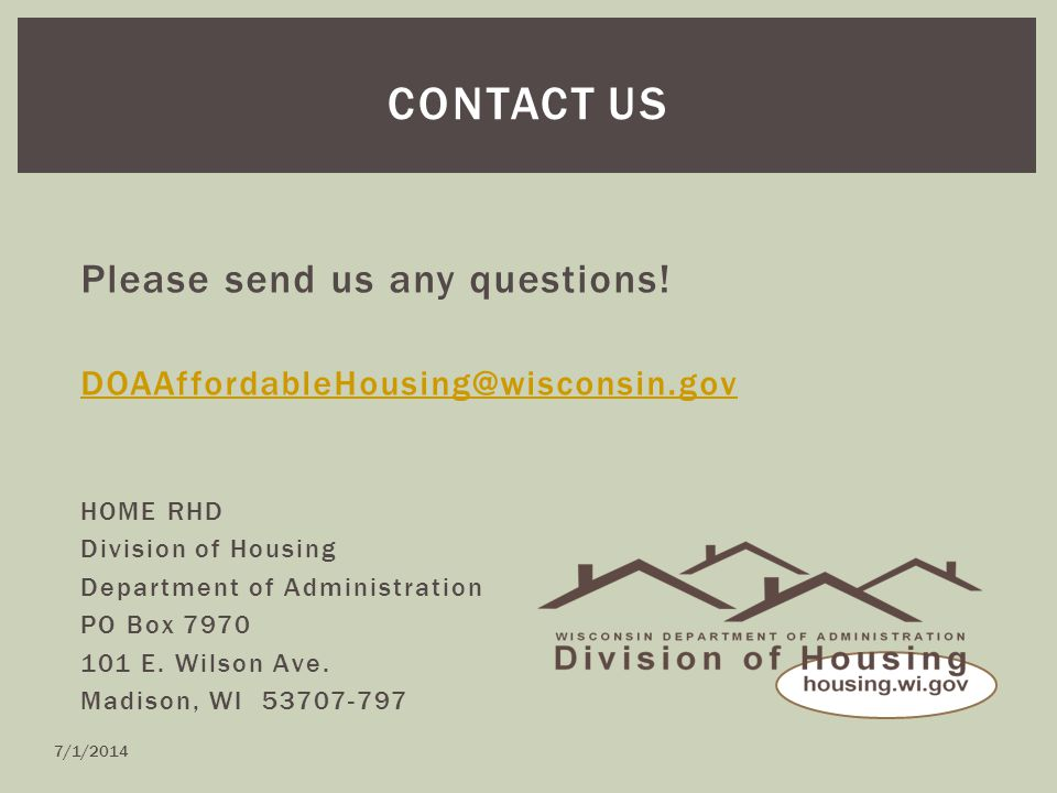 CONTACT US Please send us any questions.