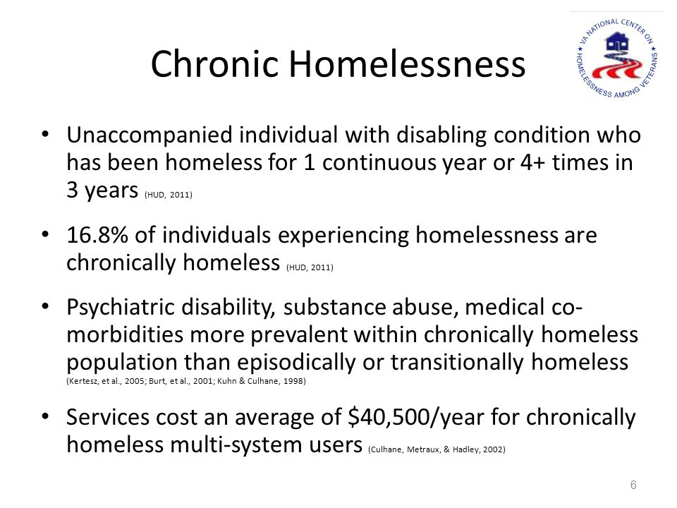 Role of HUD-VASH Within the Continuum: Working with Others to Target and Serve the Most Vulnerable VA has set target goal of 65% in HUD VASH being chronically homeless.