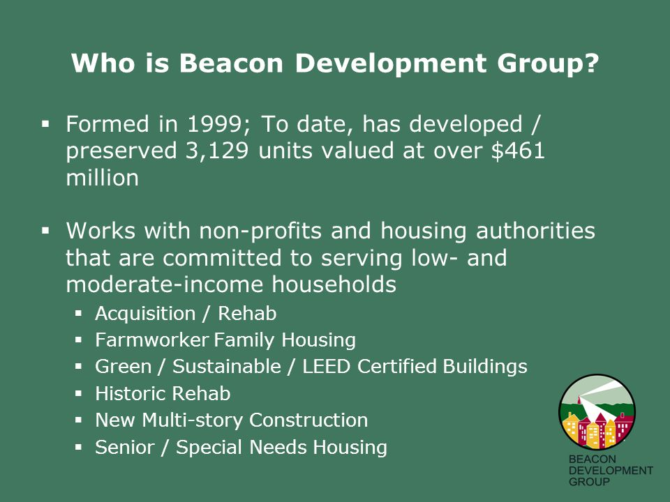 Who is Beacon Development Group.