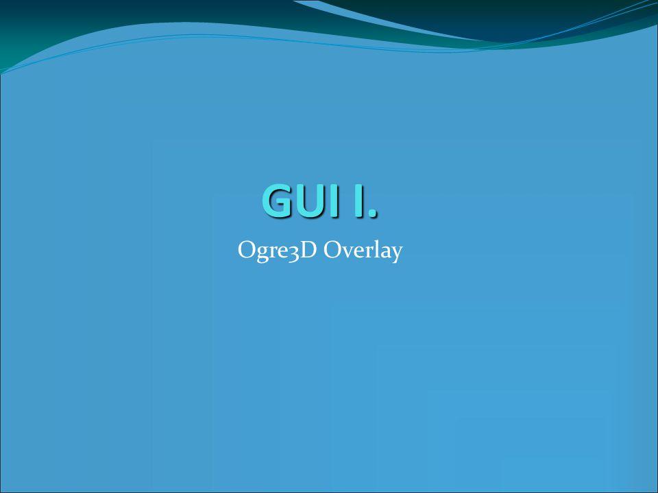 GUI I. Ogre3D Overlay