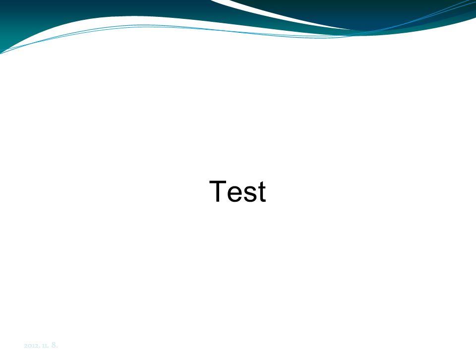 Test 2012. 11. 8.