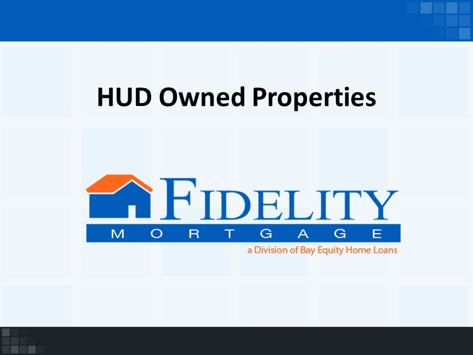 HUD Owned Properties