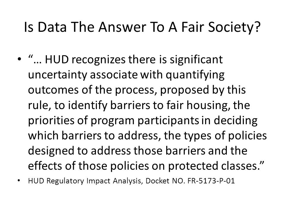 Is Data The Answer To A Fair Society.
