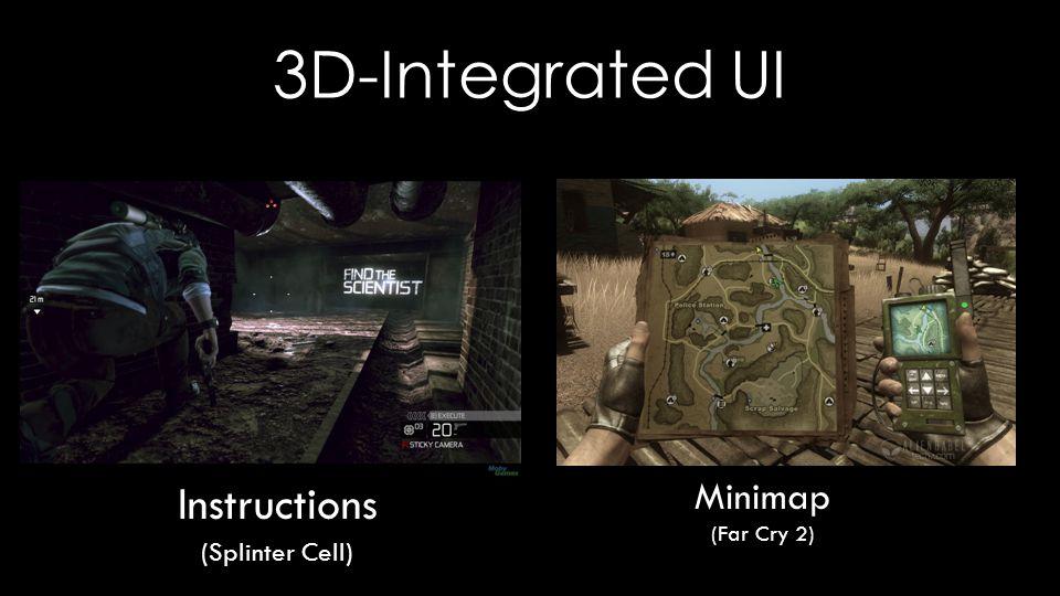 3D-Integrated UI Minimap (Far Cry 2) Instructions (Splinter Cell)