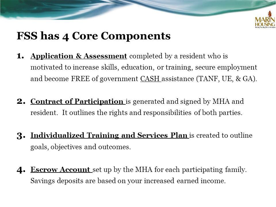 FSS has 4 Core Components 1.