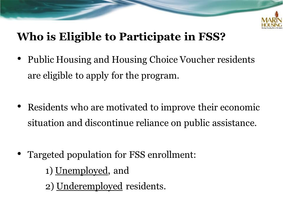 Who is Eligible to Participate in FSS.