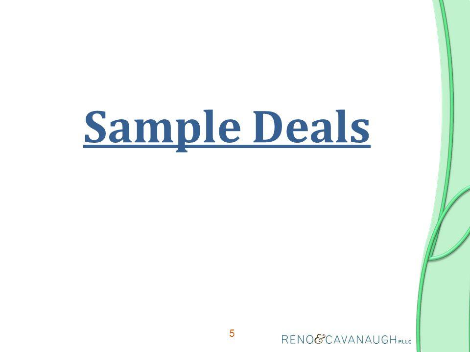 5 Sample Deals