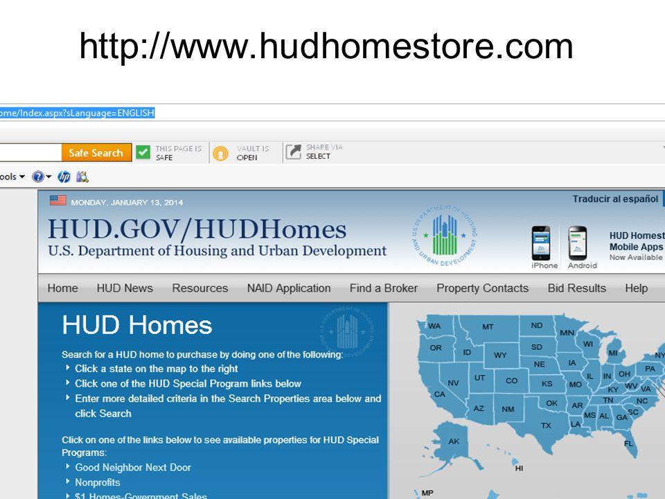 http://www.hudhomestore.com Mortgage Service