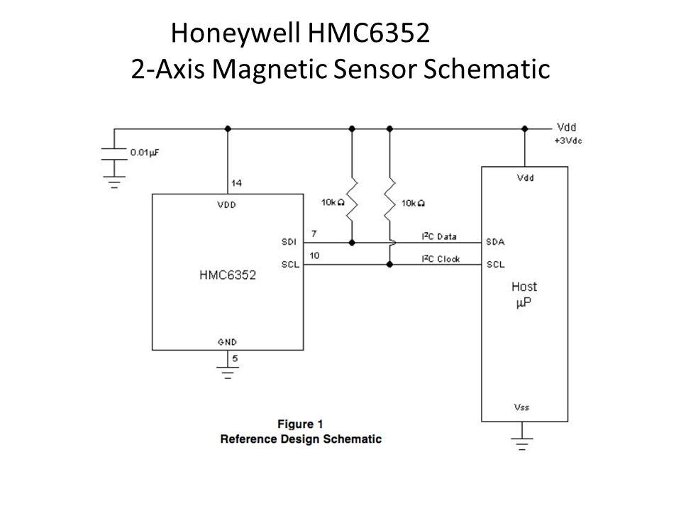 Honeywell HMC6352 2-Axis Magnetic Sensor Schematic