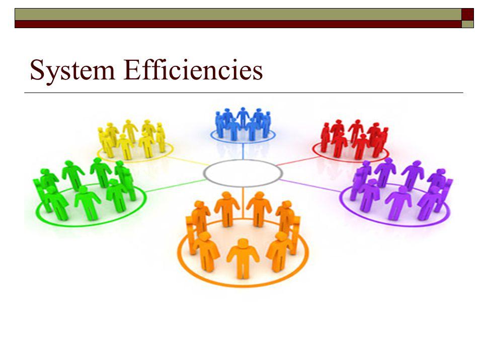 System Efficiencies