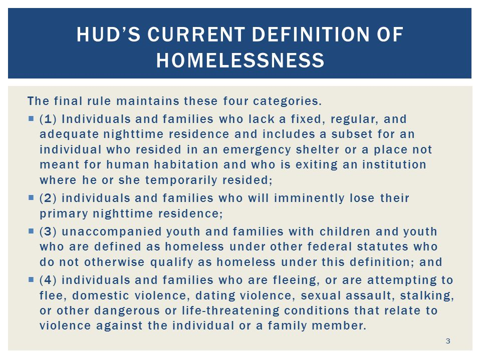  HUD s homeless assistance programs are categorized as either formula (non-competitive) and competitive.
