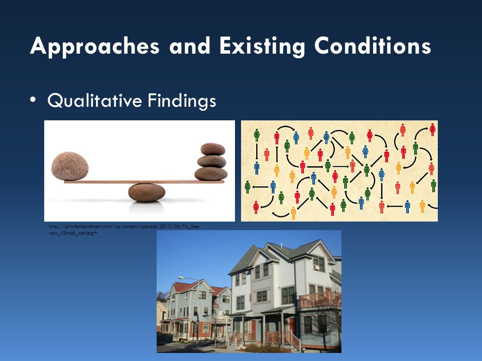 Approaches and Existing Conditions Literature /Research Review – Public Housing Residents or Eligible Seniors and Persons with Disabilities: Health factors and outcomes – Designated Housing Rule and Fair Housing – Supportive Services and Housing as a Platform for Health 1.Quantitative Approach and Findings
