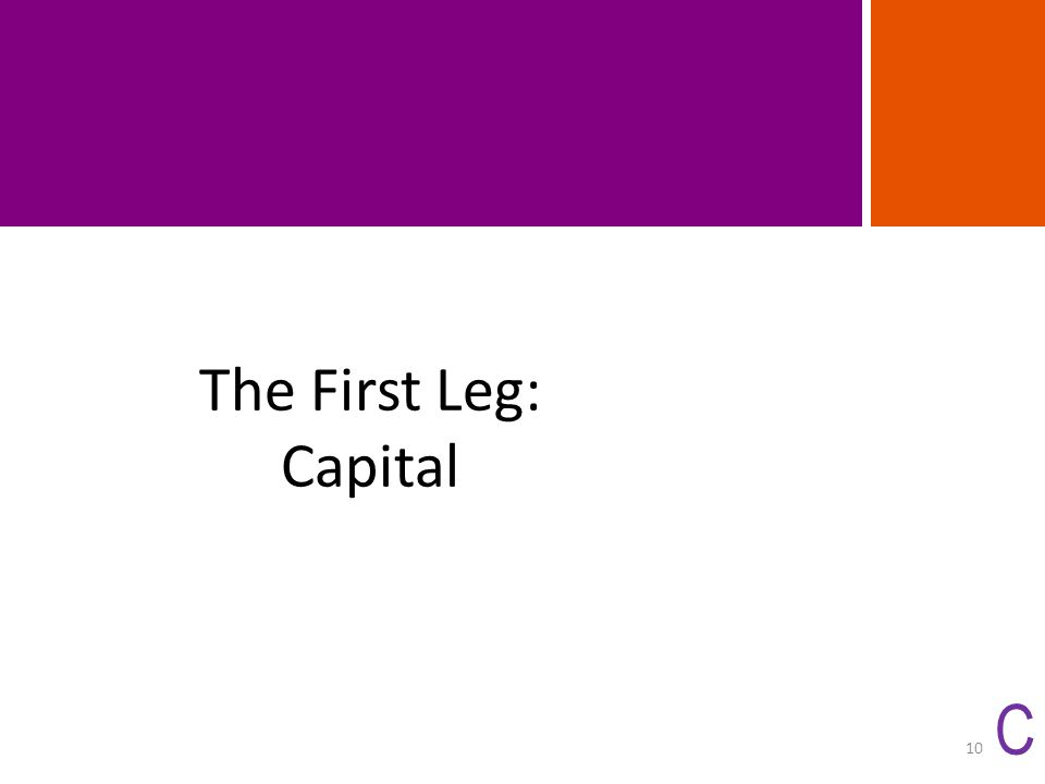The First Leg: Capital C 10