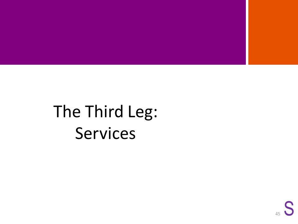 The Third Leg: Services S 45