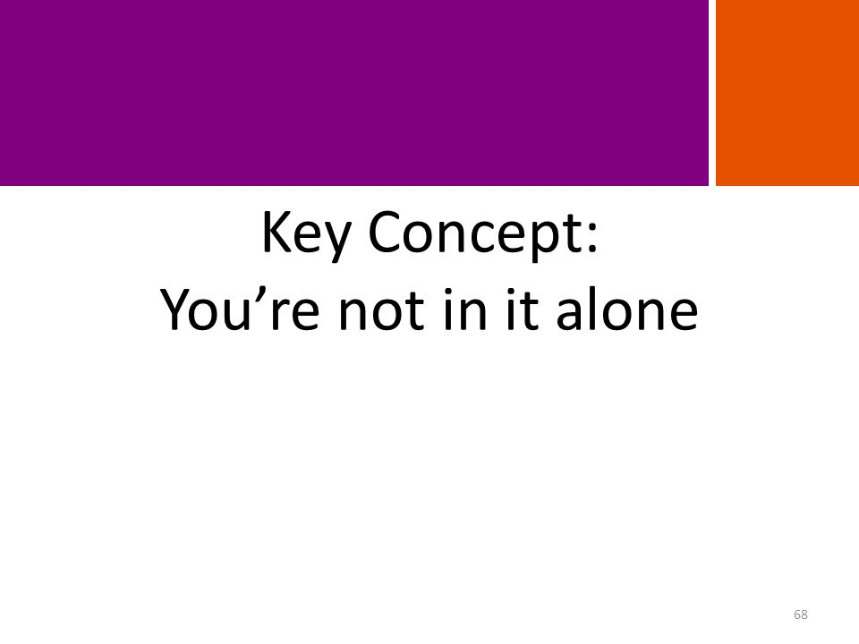 Key Concept: You're not in it alone FINANCING PHASES 68