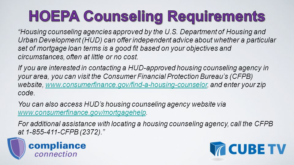 Housing counseling agencies approved by the U.S.