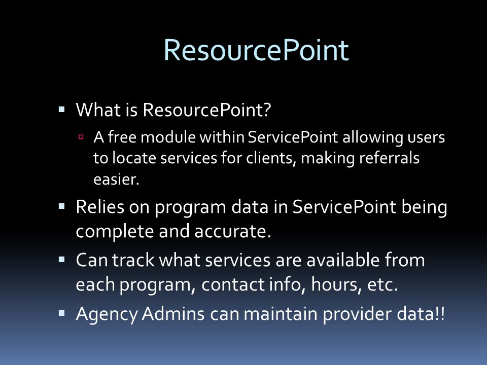 ResourcePoint  What is ResourcePoint.