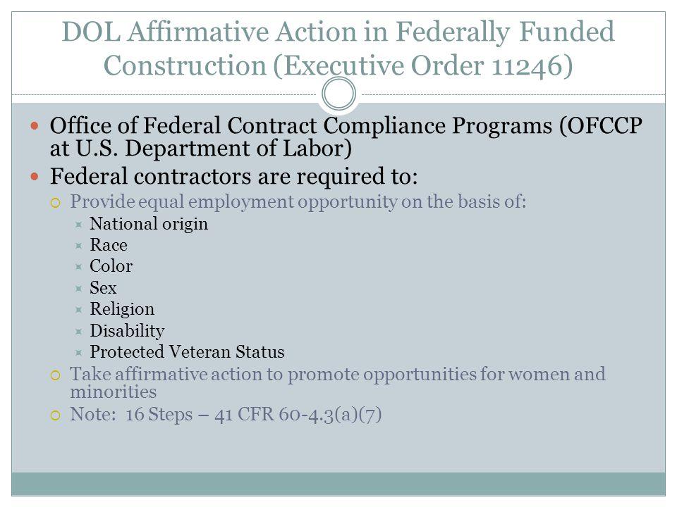 DOL Apprenticeship Program Regulations (Title 29 CFR Part 29, Part 30) Office of Apprenticeships (ETA at U.S.