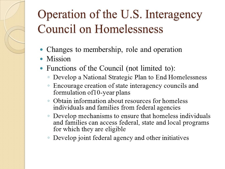 Definitions Review of a few key definitions; not all definitions At risk of homelessness : people that have incomes below 30% AMI, have insufficient resources to obtain housing stability, live in an unstable or risky situation, including moving frequently, living in the housing of others, facing eviction, living in a hotel or motel, living in severely overcrowded housing, or exiting an institution
