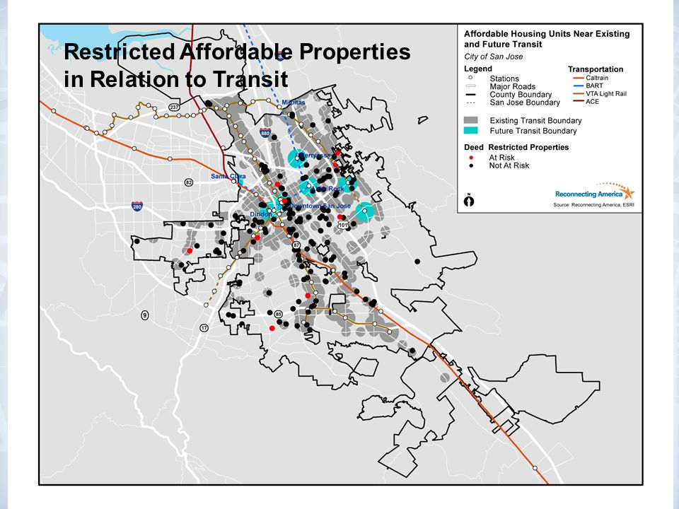 hhh Restricted Affordable Properties in Relation to Transit