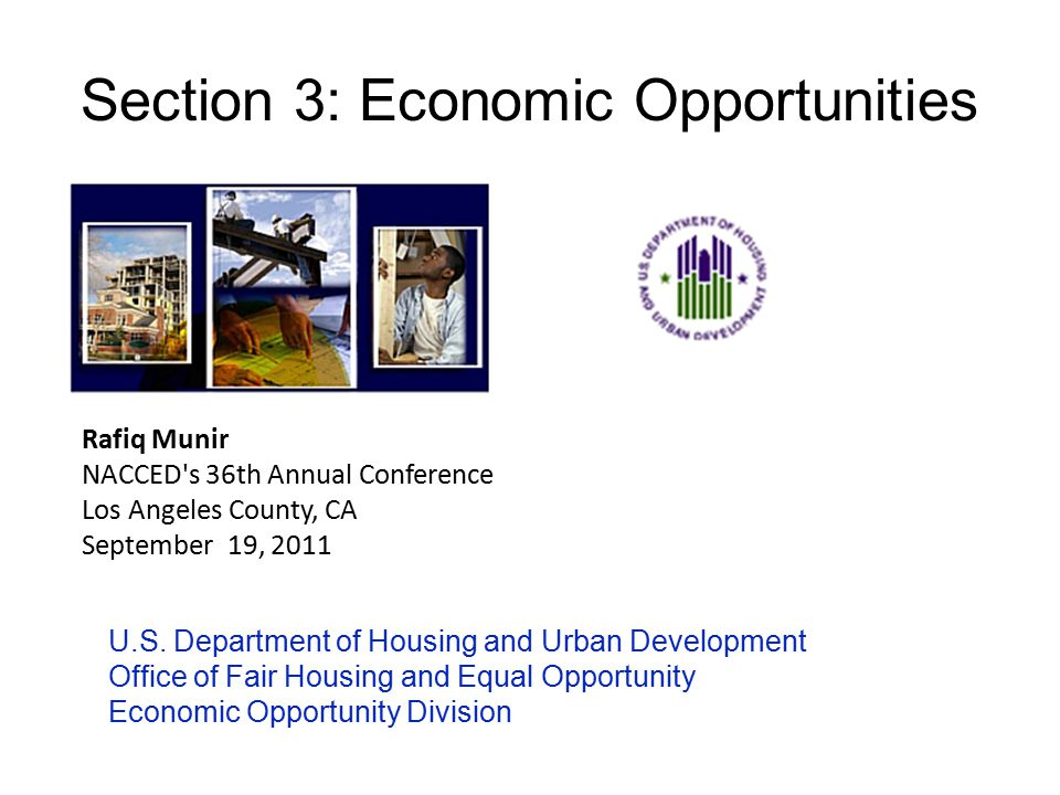 Section 3: Economic Opportunities U.S.