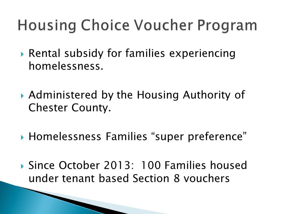  Rental subsidy for families experiencing homelessness.