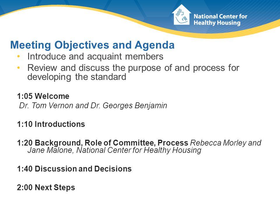 Introductions - Committee Members Meri-K Appy Dr.Georges Benjamin Dr.